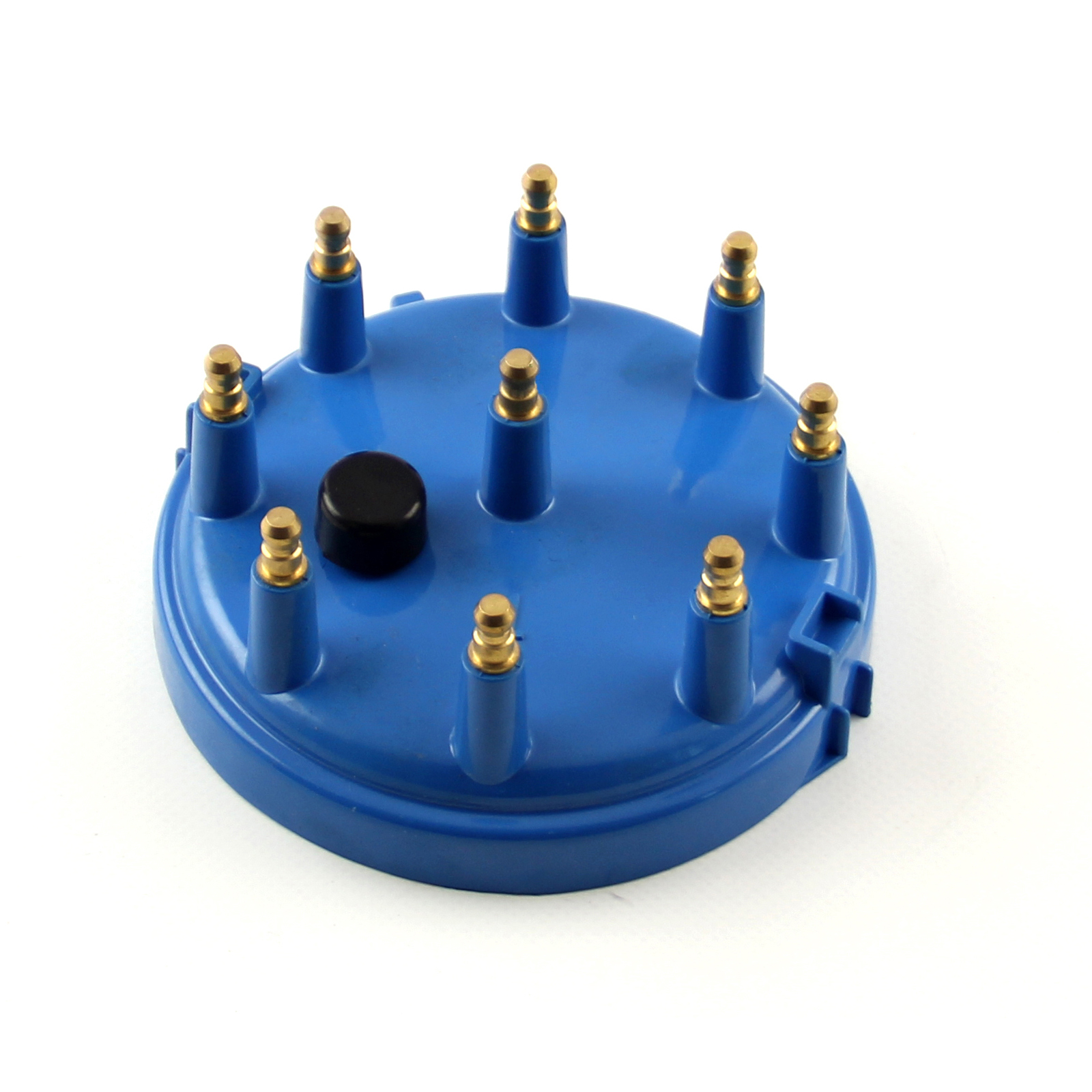 9000 Series Male Replacement Distributor Cap Brass Terminals - Blue