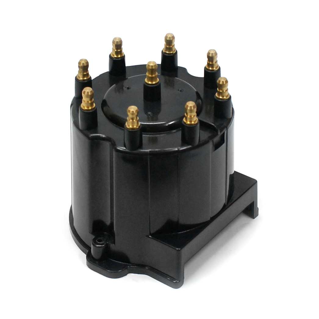 10000 Series Replacement Distributor Cap Brass Terminals - Black