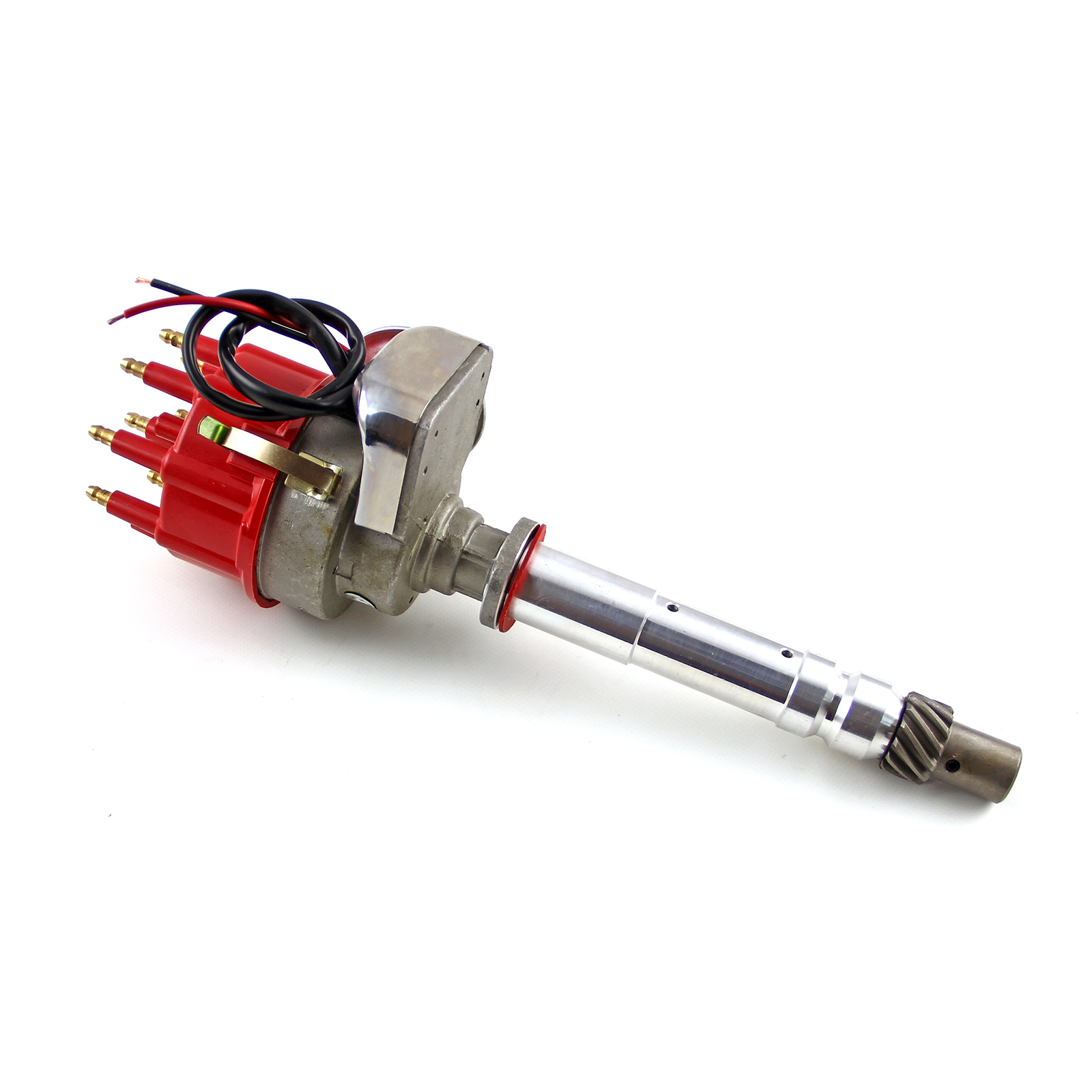 Details about Chevy SBC 350 BBC 454 Ready to Run Electronic Distributor  (Vacuum) - Red Cap
