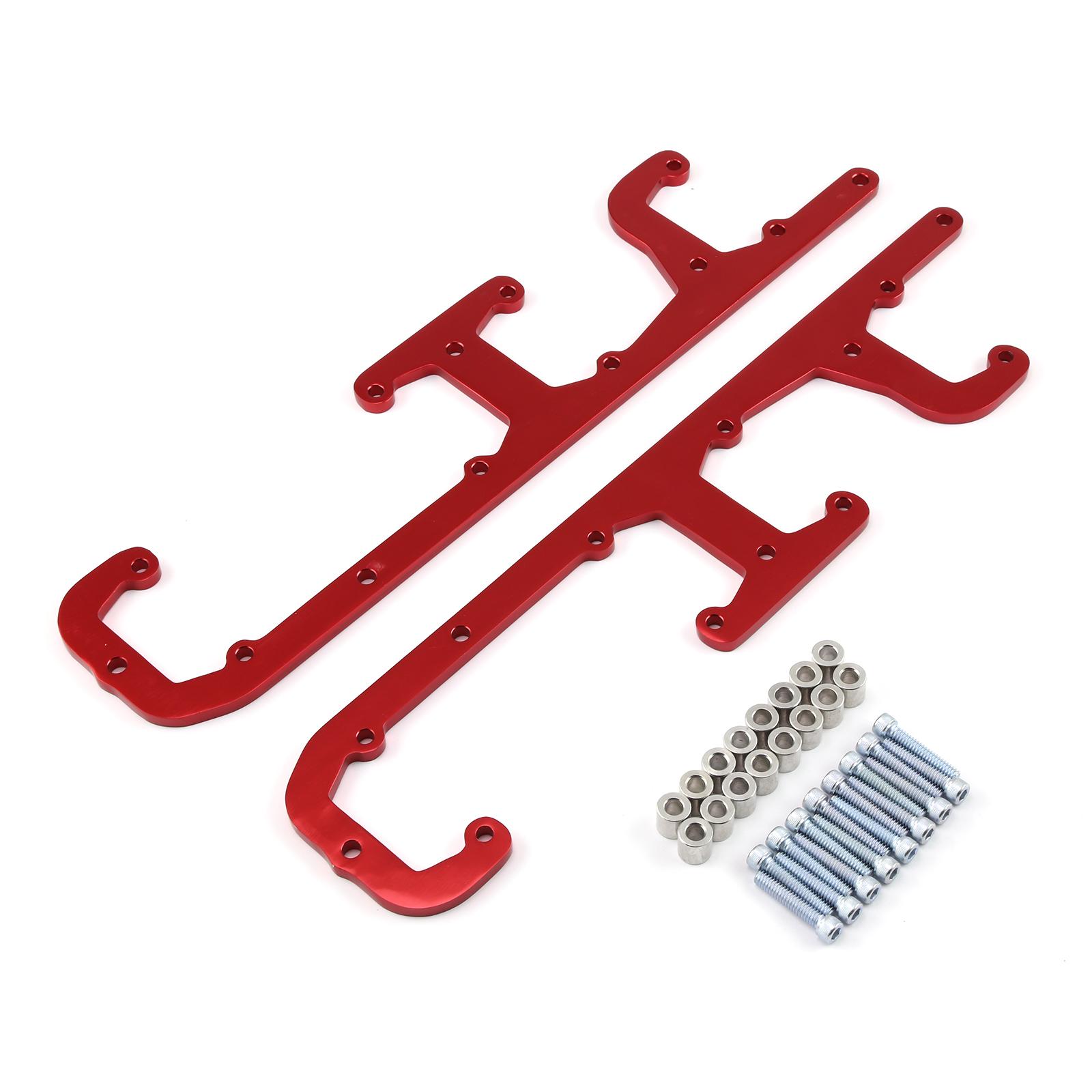 LS Series Red Billet Aluminum Coil Pack Bracket Kit with Hardware