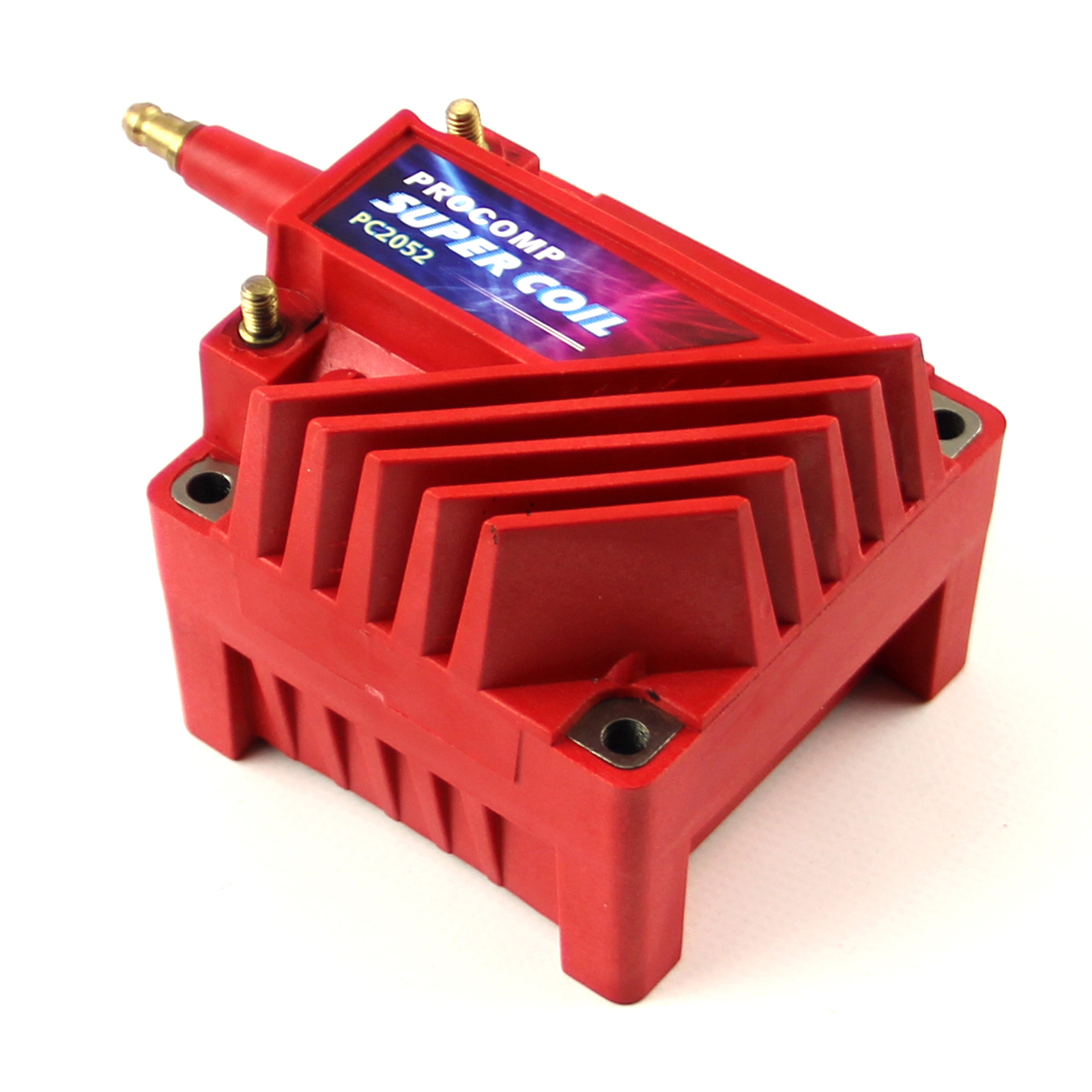 Universal Pc92 12V High Output External Male E-Core Ignition Coil - Red