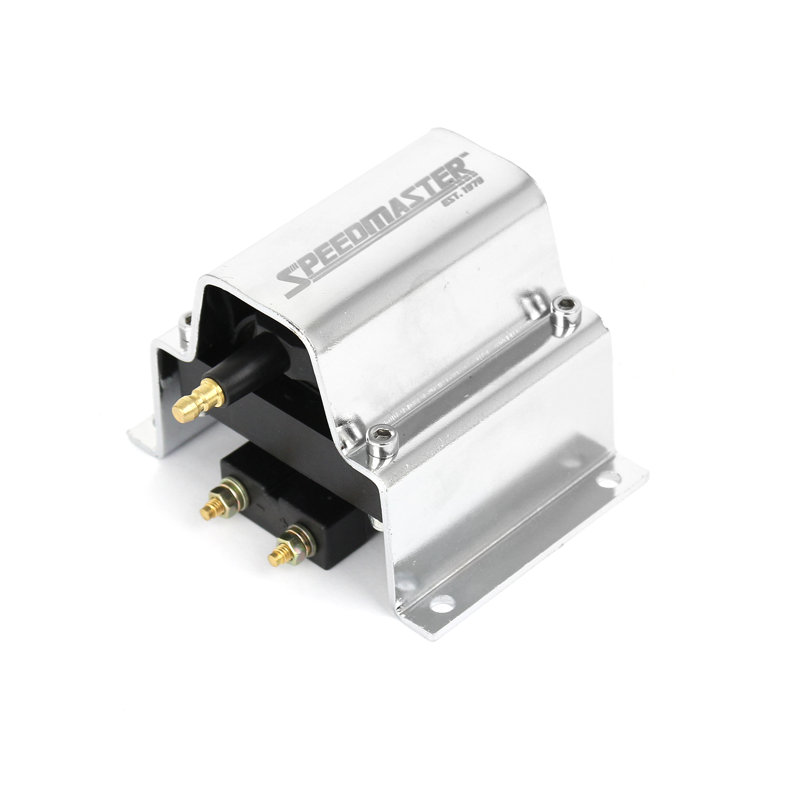 12V HO External Male E-Core Ignition Coil - Chrome