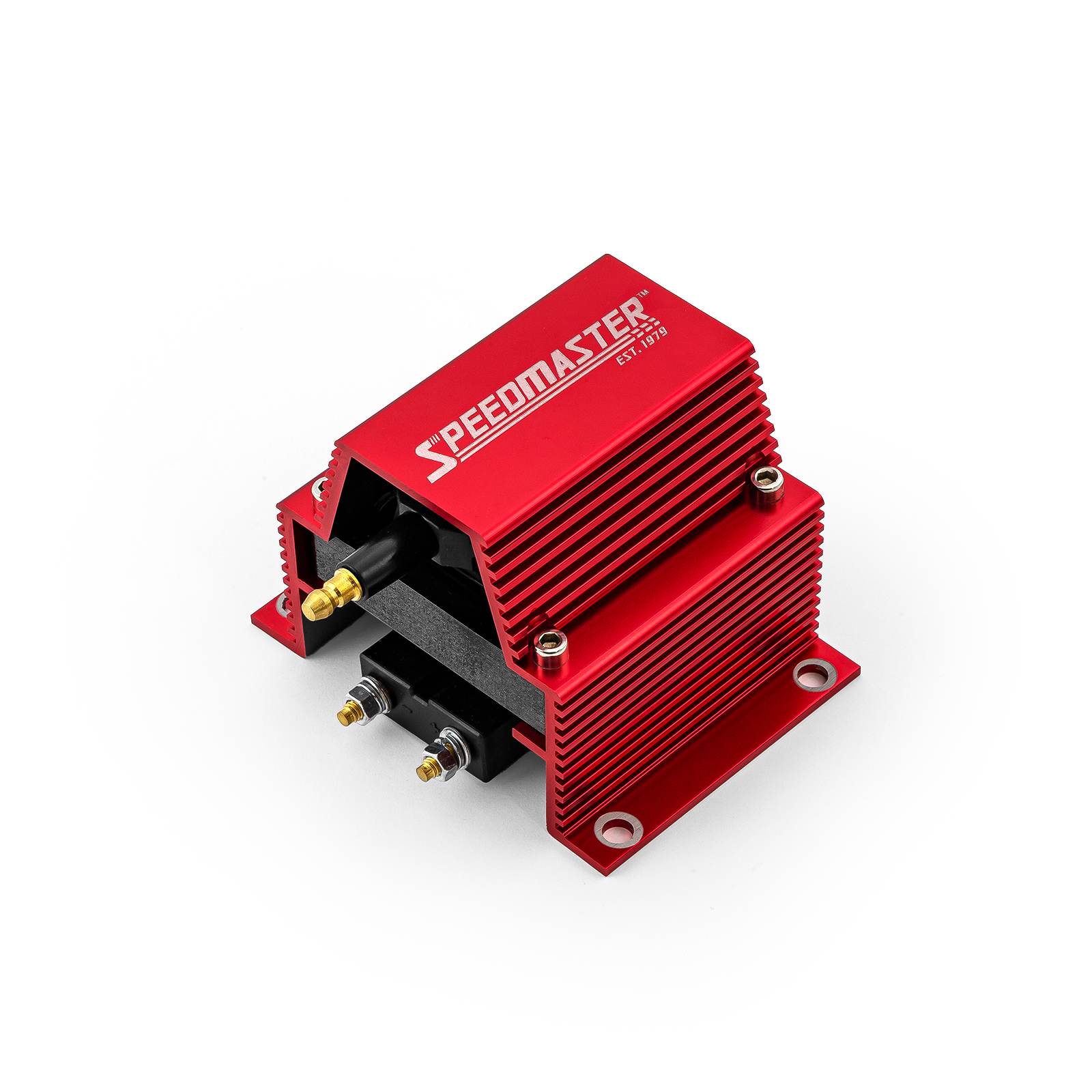 12V HO External Male E-Core Ignition Coil - Red