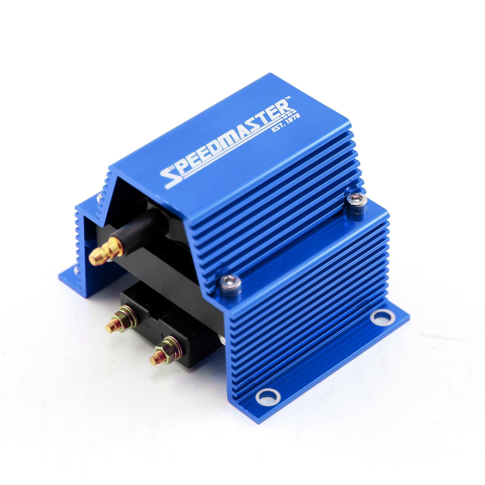 12V HO External Male E-Core Ignition Coil - Blue