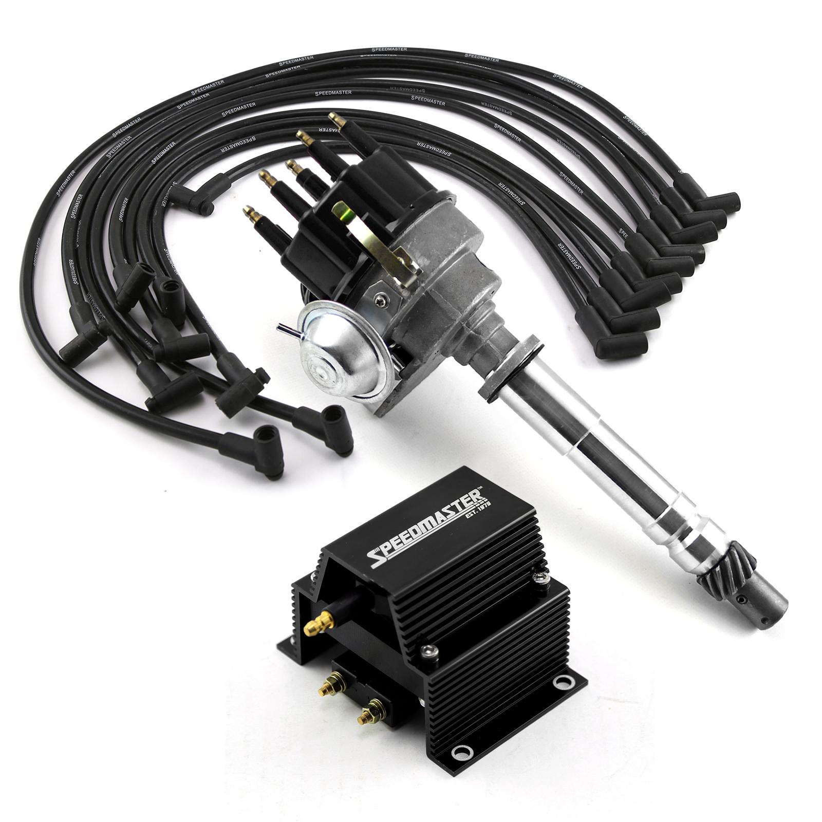 Chevy SBC 350 BBC 454 Ready-to-run Black Ignition Distributor Combo