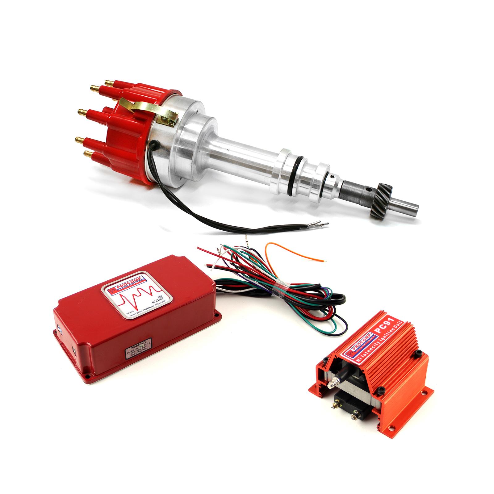 Ford 351W Windsor Pro Billet Distributor 6AL CDI Ignition & Coil Kit