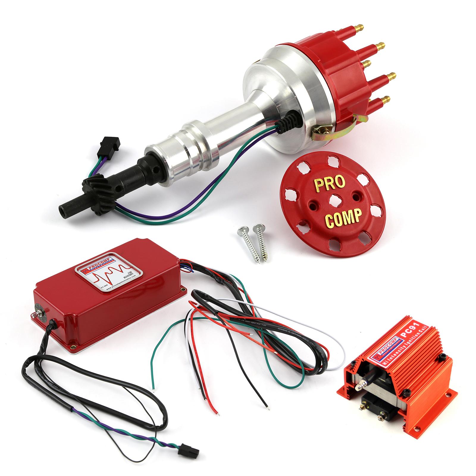 Ford 289 302 Windsor 8400 Pro Billet Distributor 6AL CDI Ignition & Coil Kit