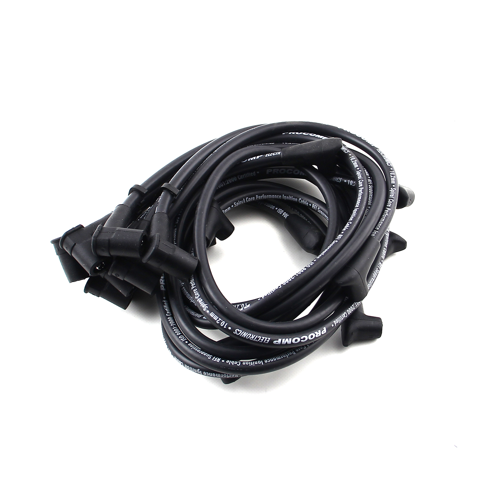 Universal 90 Deg to 90 Deg Under Covers Female Black Spark Plug Wires suit Chevy