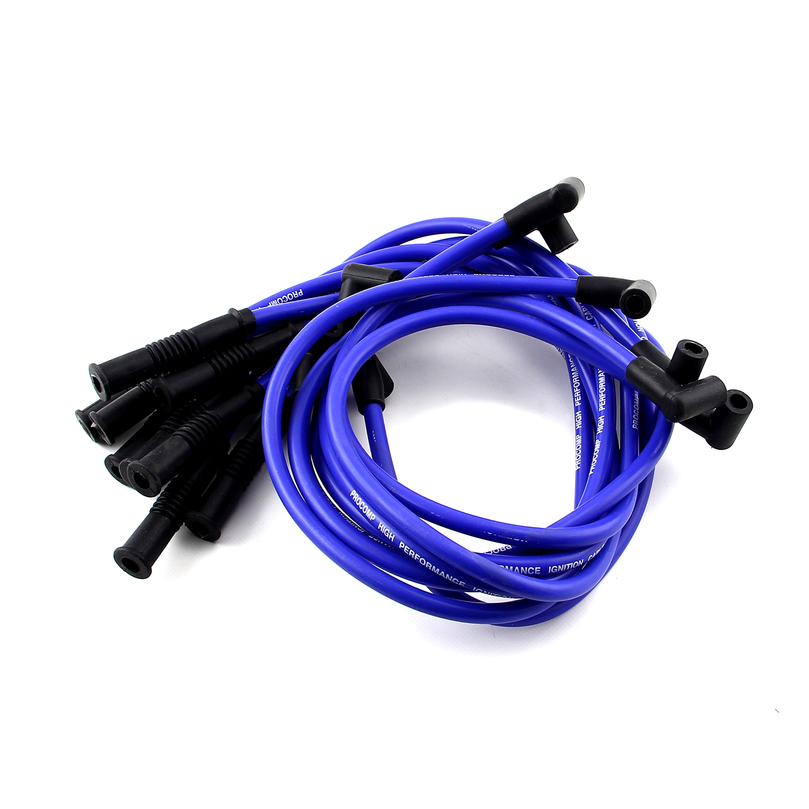 Universal 90 Deg to Straight - Male - Blue Spark Plug Wires (Suits Ford)