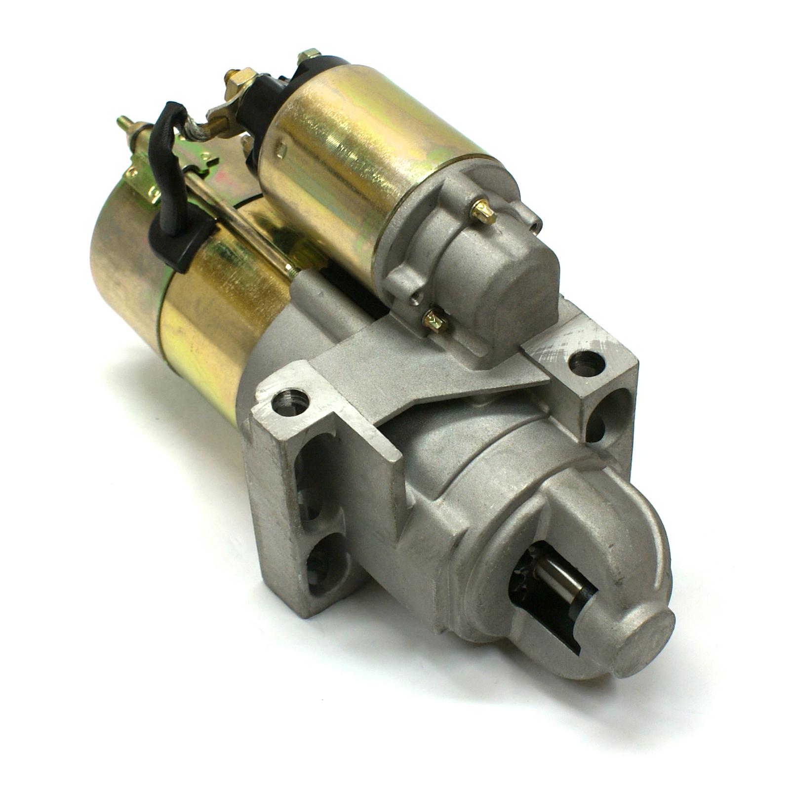 "Chevy SBC 350 BBC 454 11"" 168T Offset High Torque Starter Motor Black"