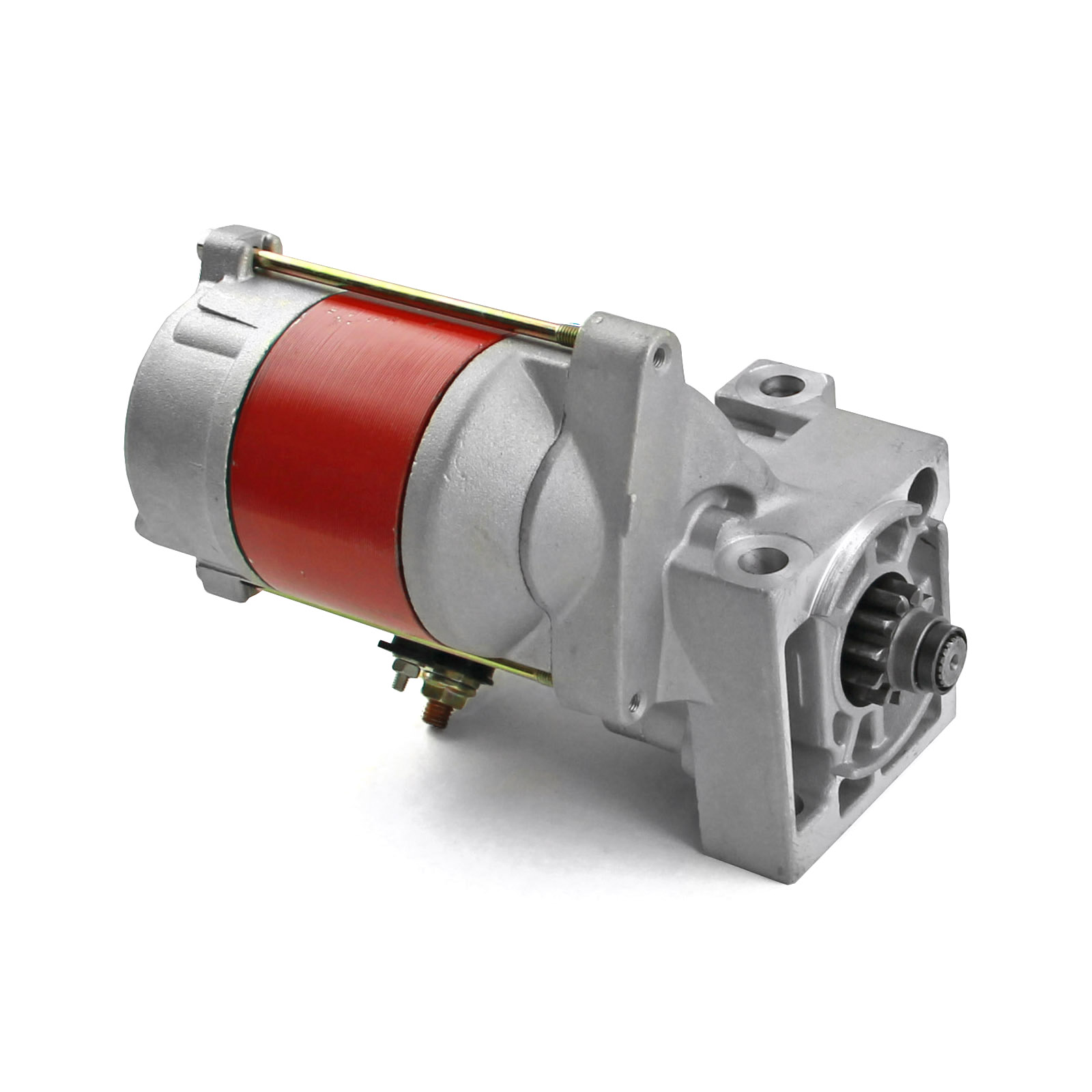 "Chevy SBC 350 BBC 454 11"" 168T Offset 2.5Hp High Torque Starter Motor Red"