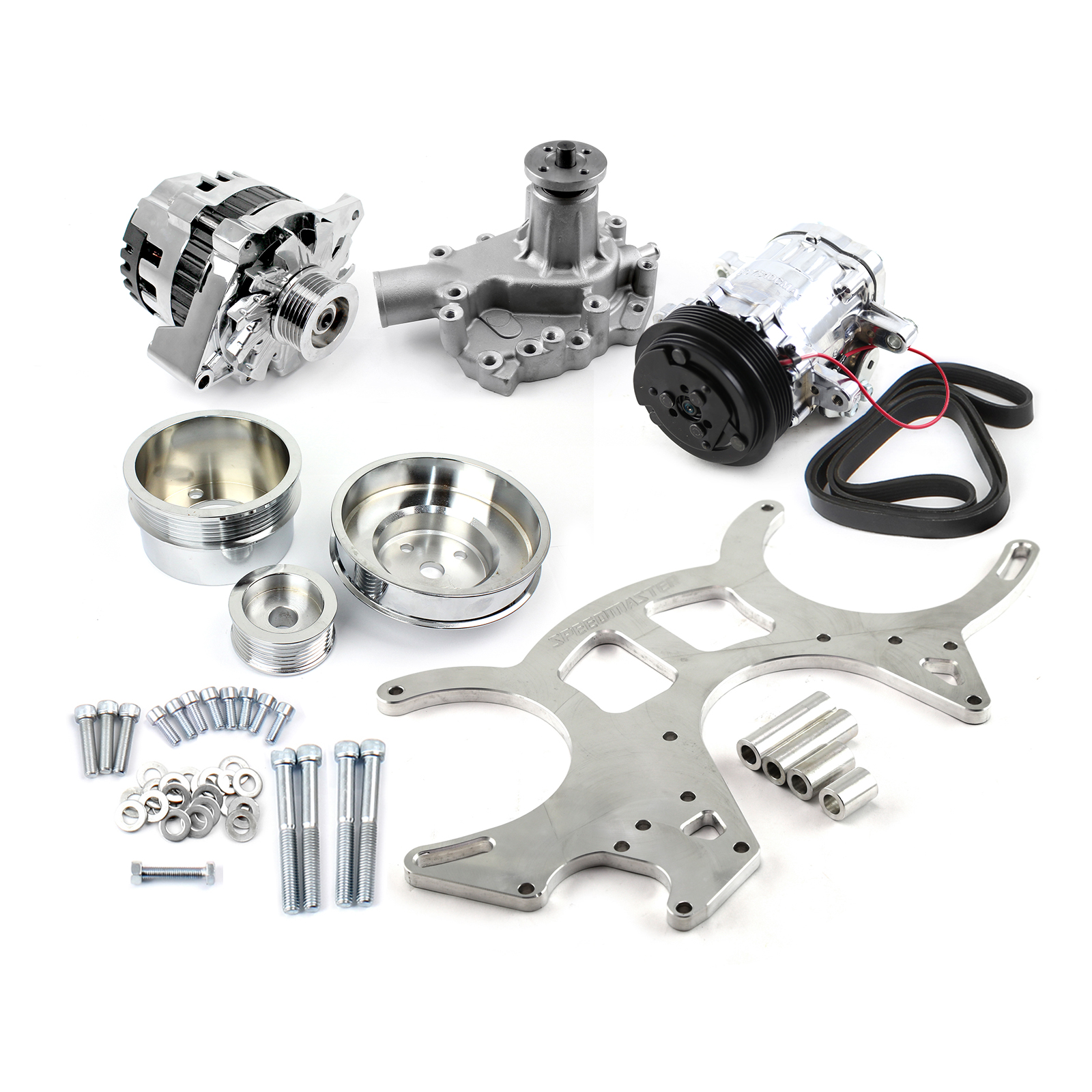 Ford Small Block 289 302 351w Billet Aluminum 20% Underdrive Serpentine Kit