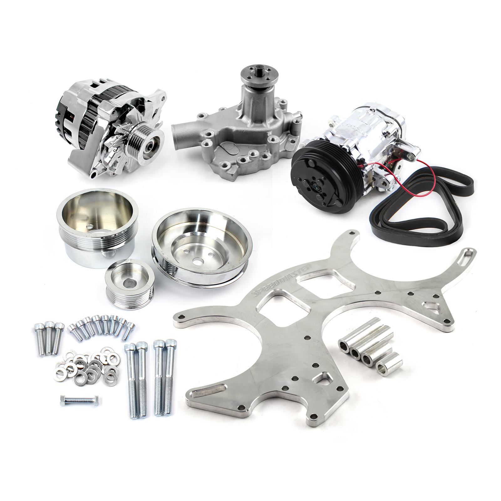 Ford Small Block 289 302 351w Billet Aluminum 20% Underdrive Serpentine Kit