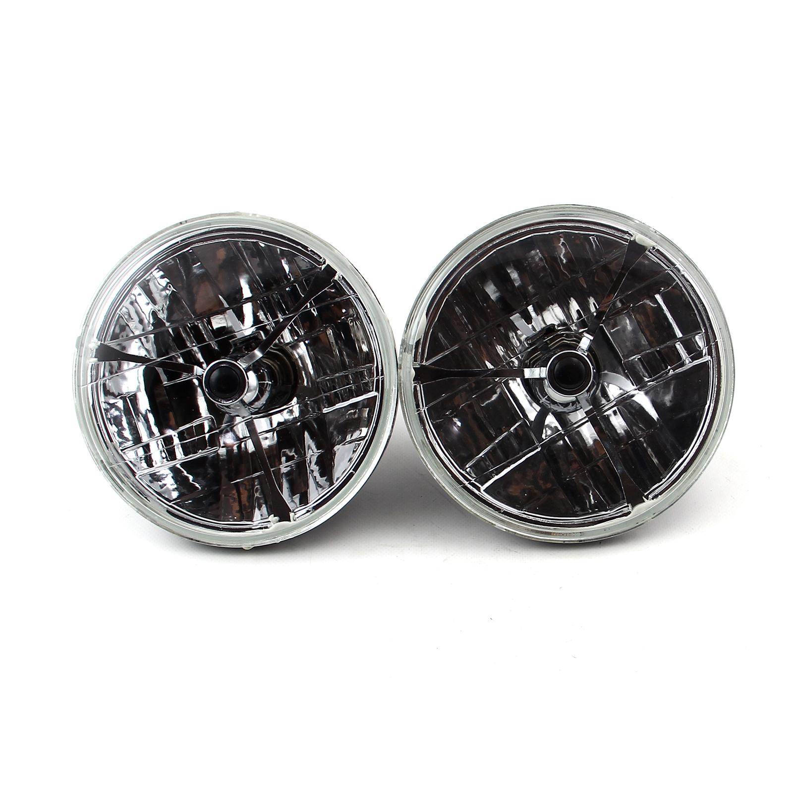 "7"" Multi Reflex Headlight H4 55/60W w/Tri Bar # Black Dot"