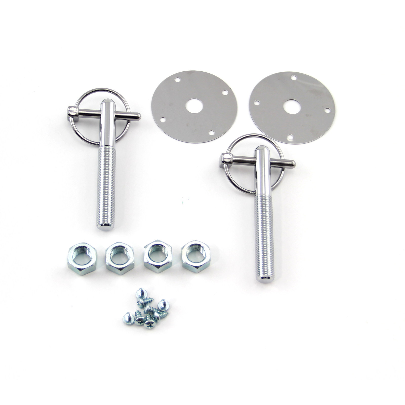 "1/4"" Flip Over Lock Style Steel Hood Pin Lock Kit"
