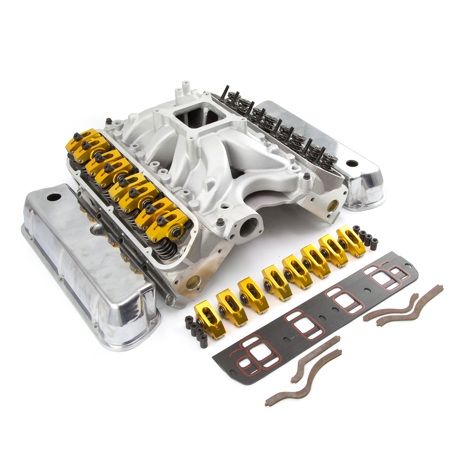 Ford 351W Windsor Solid Roller CNC Cylinder Head Top End Engine Combo Kit