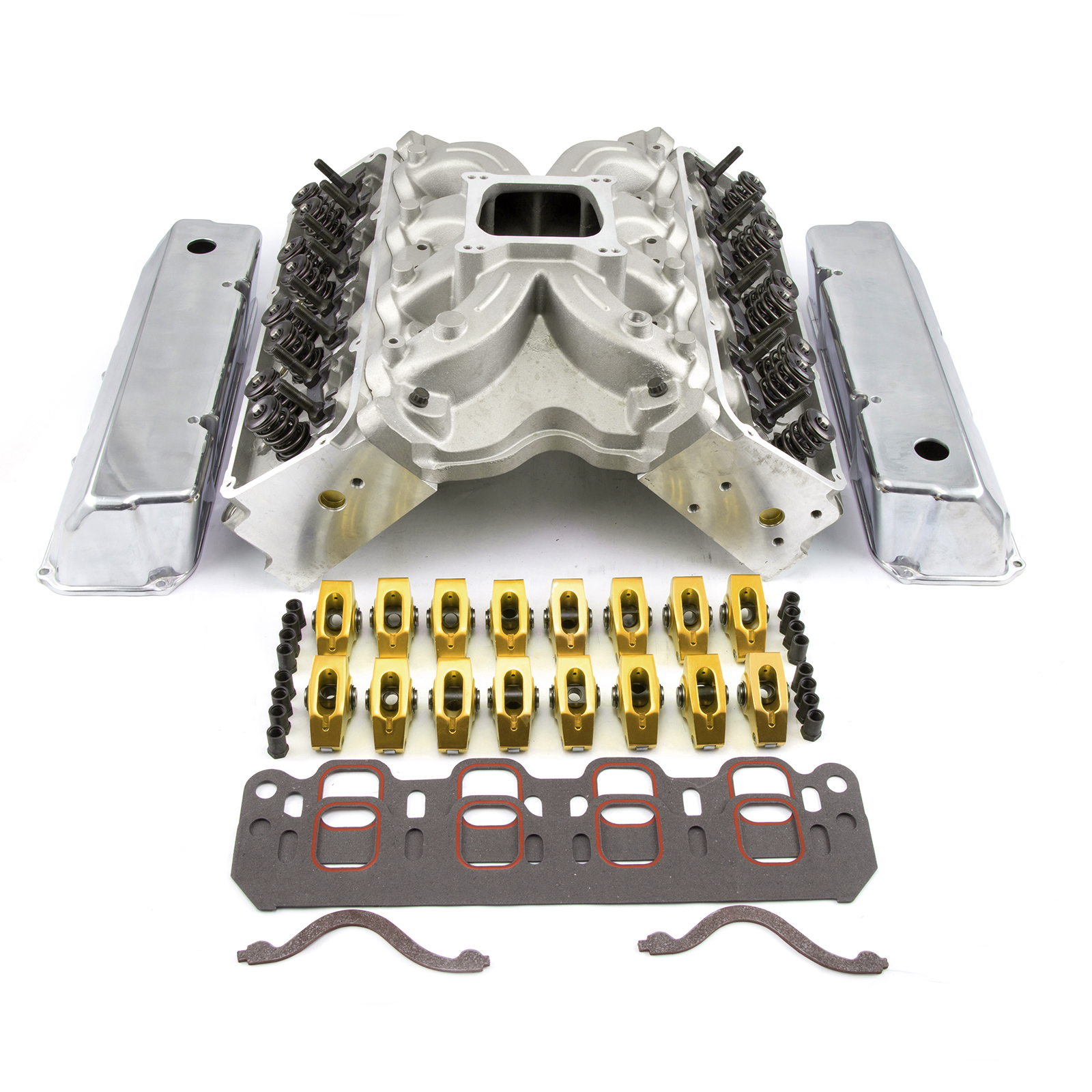 PCE® PCE435.1072 Ford 302 351C Cleveland CNC Solid-R Cylinder Head Top End Engine Combo Kit