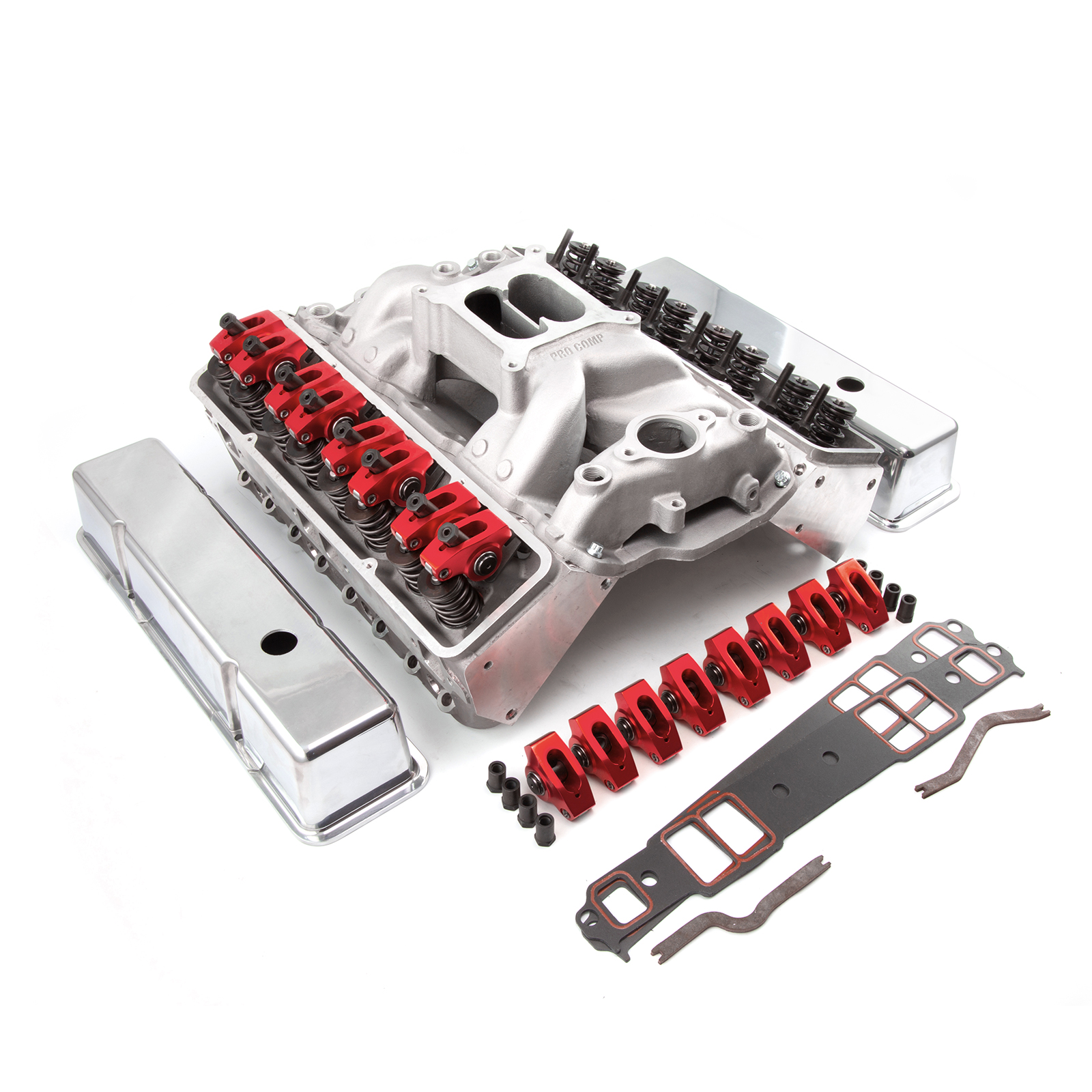 Details about Chevy SBC 350 Angle Plug Solid FT Cylinder Head Top End  Engine Combo Kit