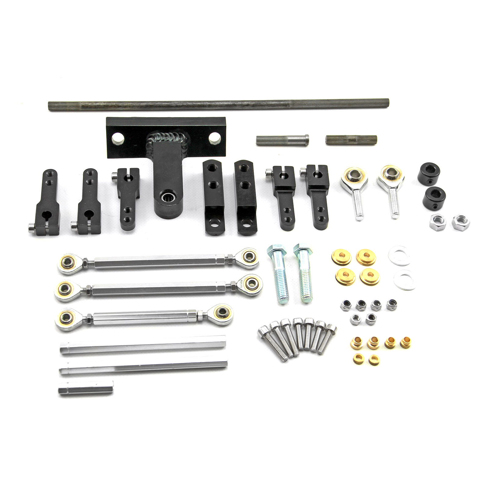 Dual Side Mount Carburetor Linkage Kit for Blower and Tunnel Ram Applications