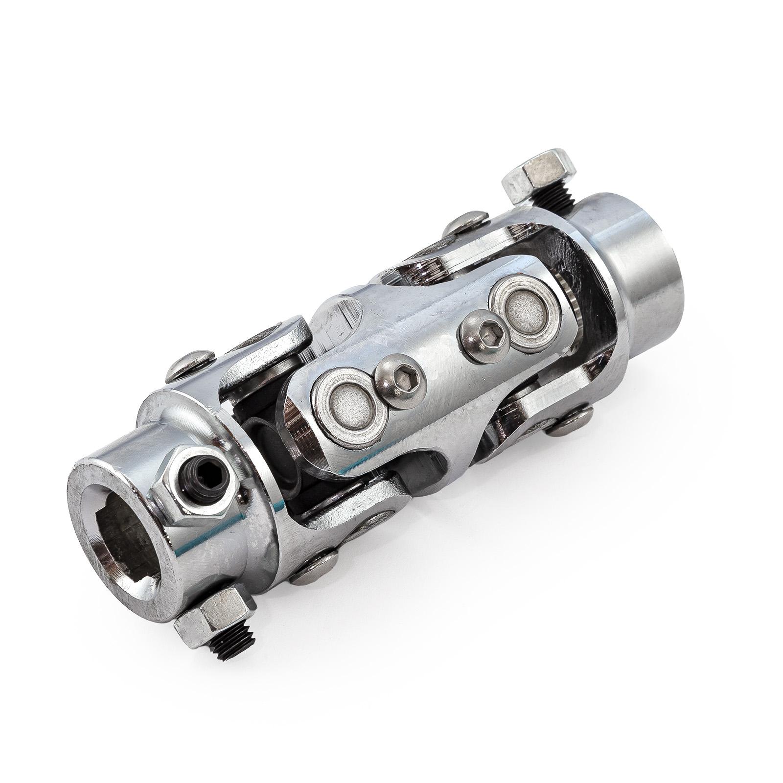 """3/4""""-30 Spline X 3/4"""" Double D Stainless Steel Steering U-Joint"""