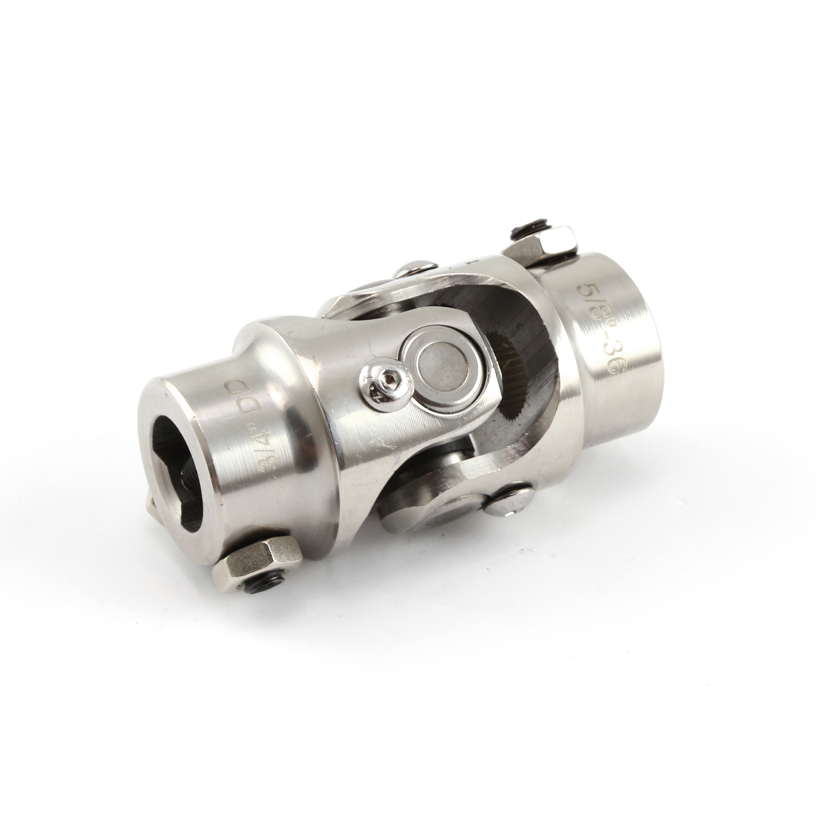 "5/8""-36 Spline X 3/4"" Double D Stainless Steel Steering U-Joint"