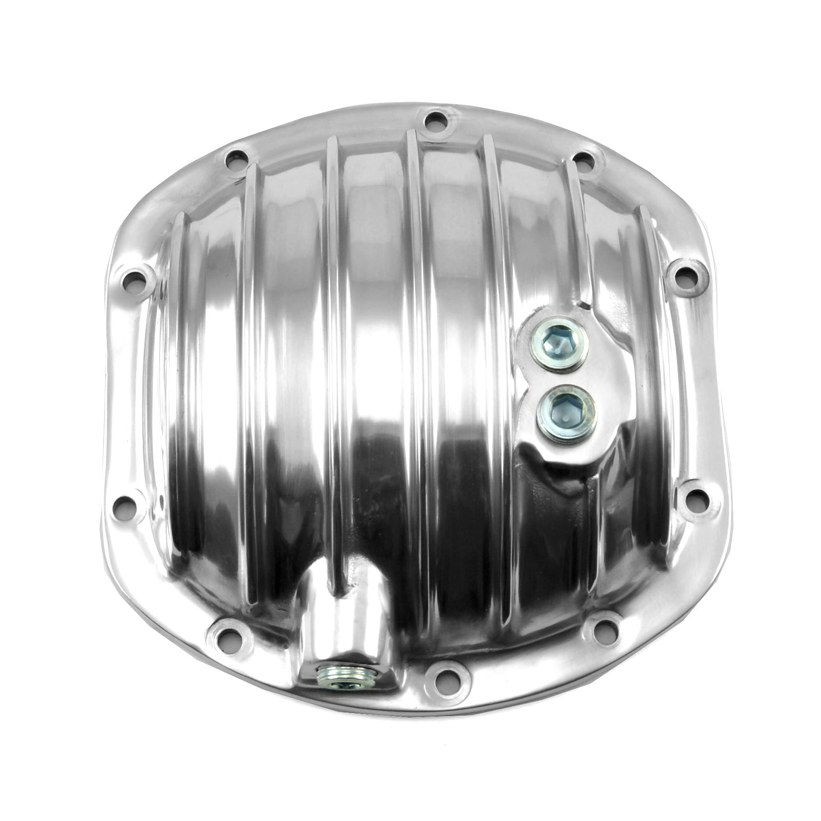 Dana 25 27 30 10 Bolt Polished Aluminum Rear End Differential Rear Cover