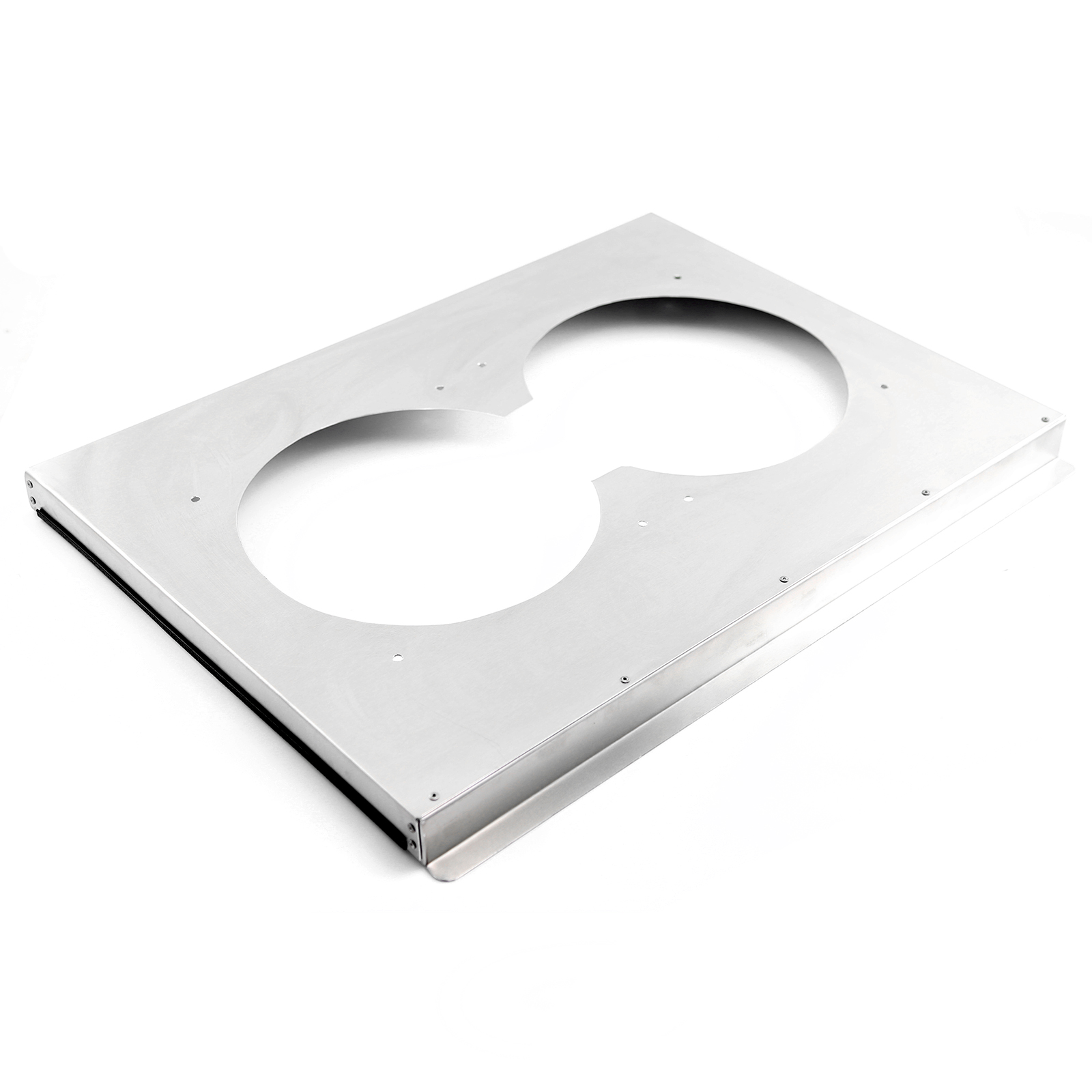 "Aluminum Dual Fan Shroud For 31"" Radiator Applications"