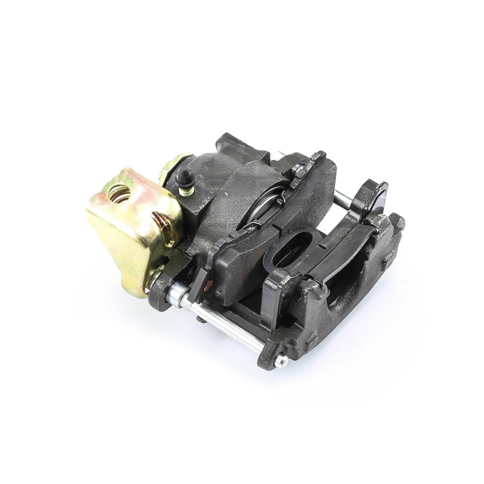 "GM Rear Metric Caliper w/Emergency Brake 5"" Pin RH Side 7/16"" Inlet"