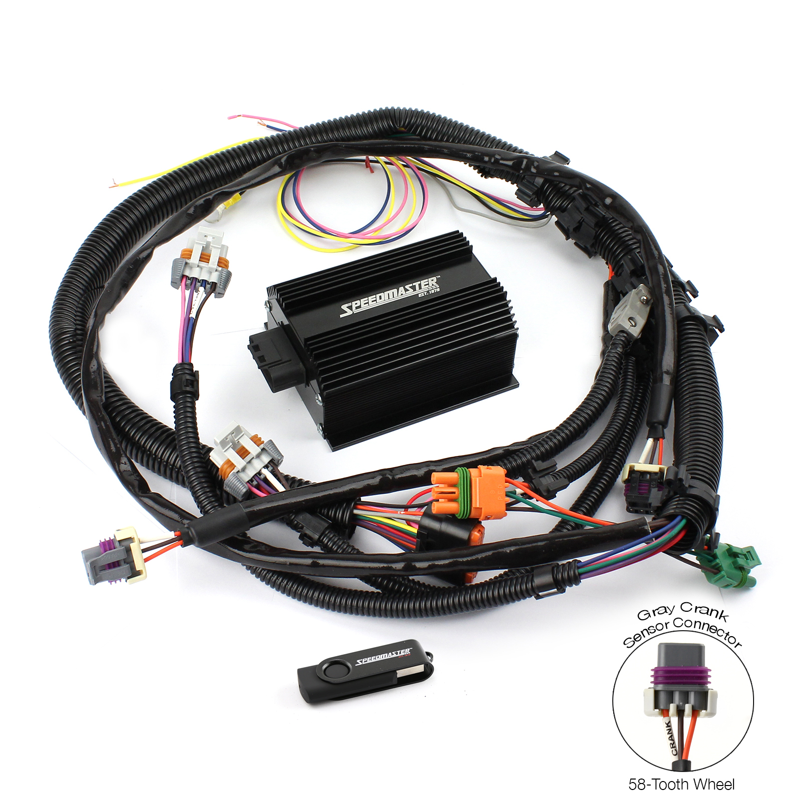 Gm Ls2 Ls7 58-Tooth Efi To Carbureted Ignition Controller Kit W/ Harness