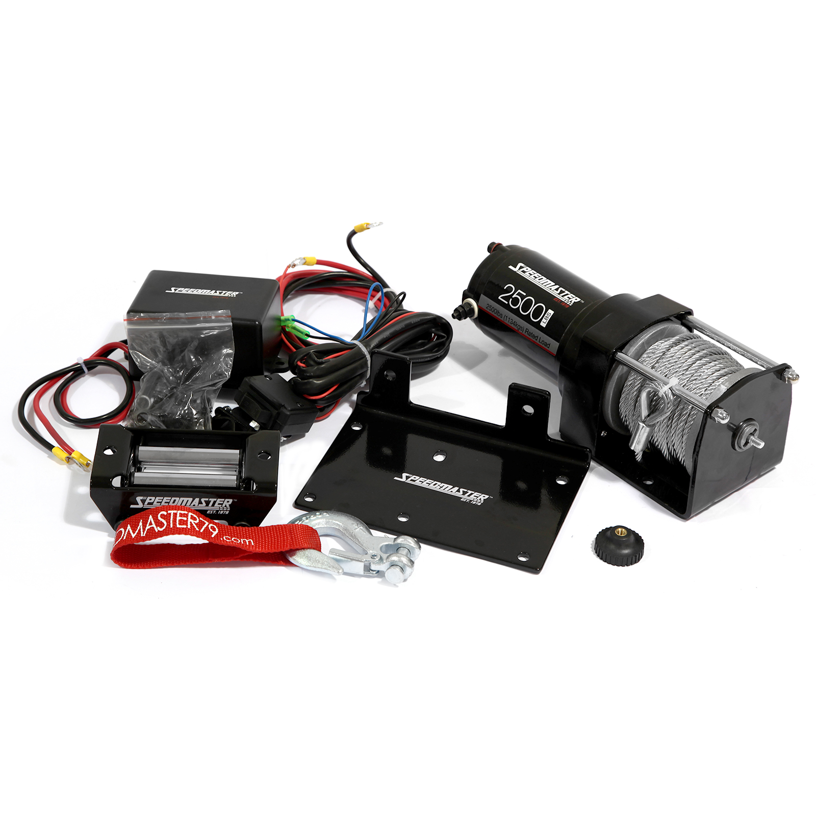 Speedmaster 2500lbs / 1130kgs 12V Electric ATV Winch Kit w/ Remote Switch