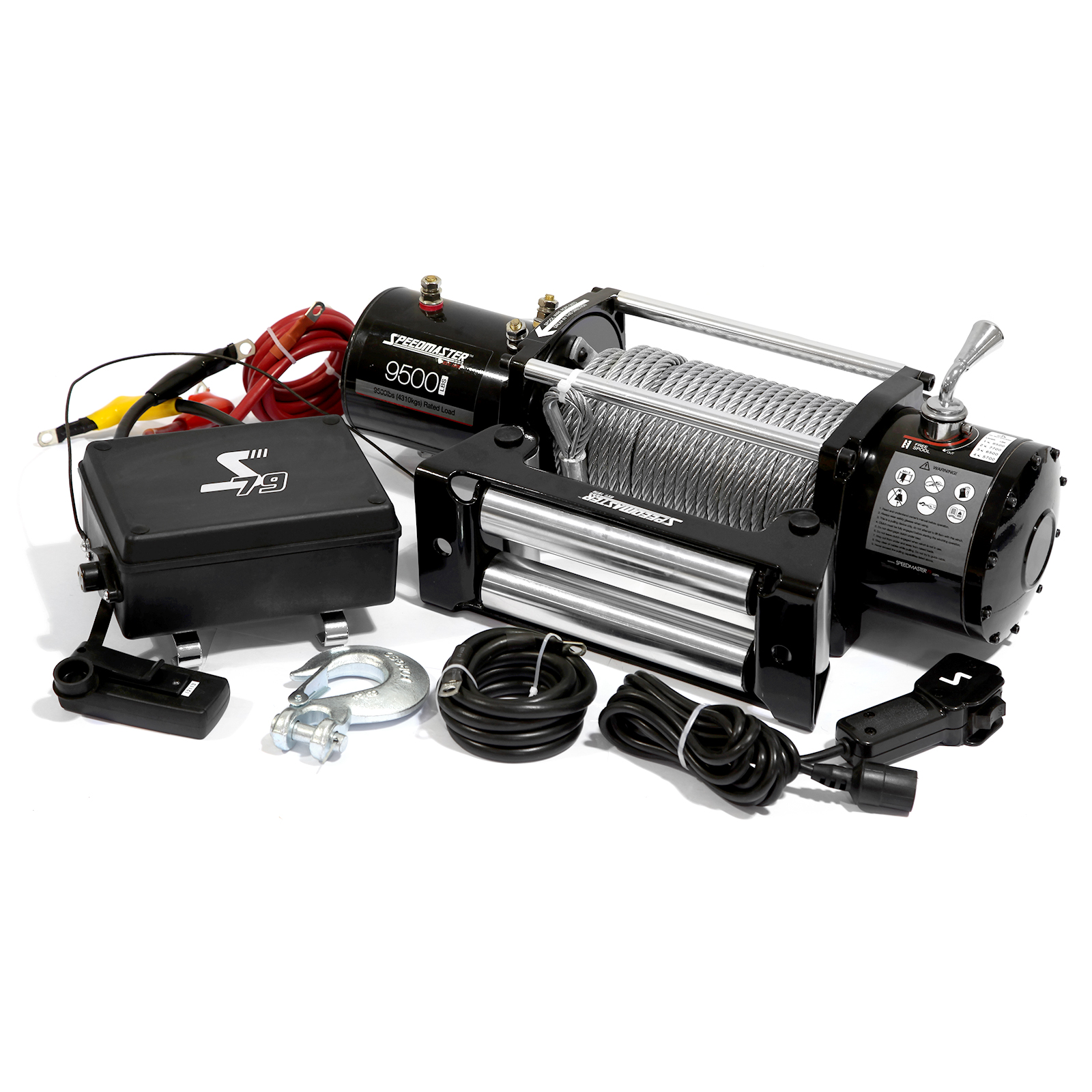 Speedmaster 9500lbs / 4310kgs 12V Electric 4wd Winch Kit w/ Wireless Remote