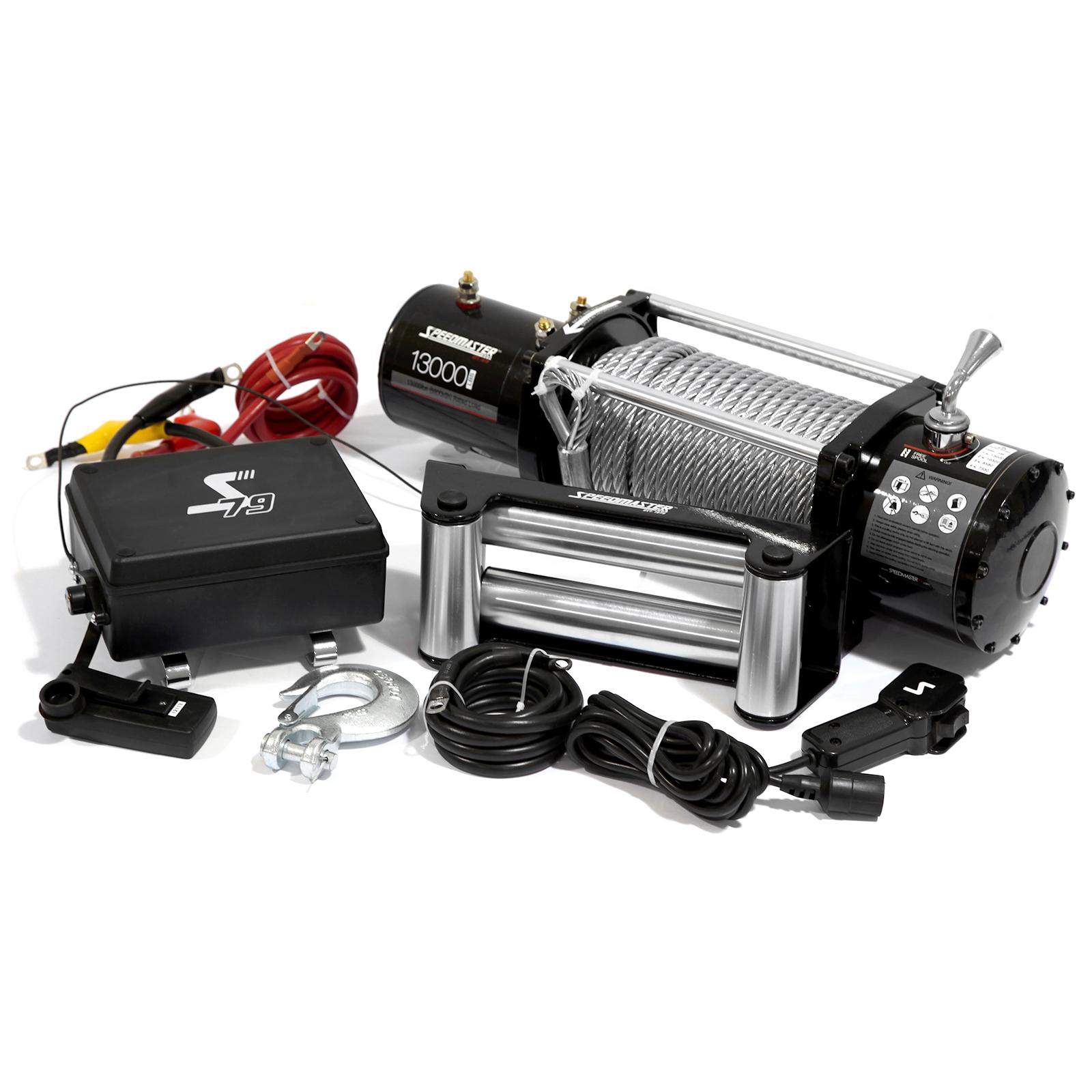 Speedmaster 13000lbs / 5900kgs 12V Electric 4wd Winch Kit w/ Wireless Remote
