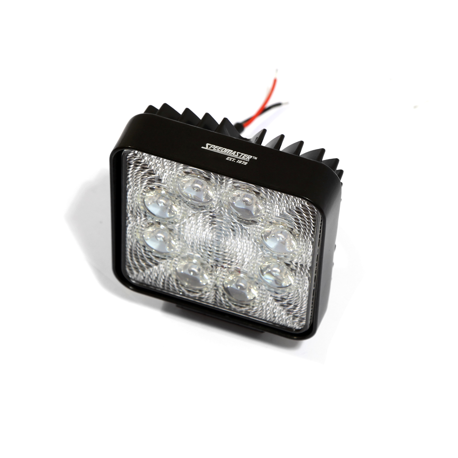 "4"" 24W LED Work Light Square Fog Offroad Driving Lamp SUV Car Boat 4WD"