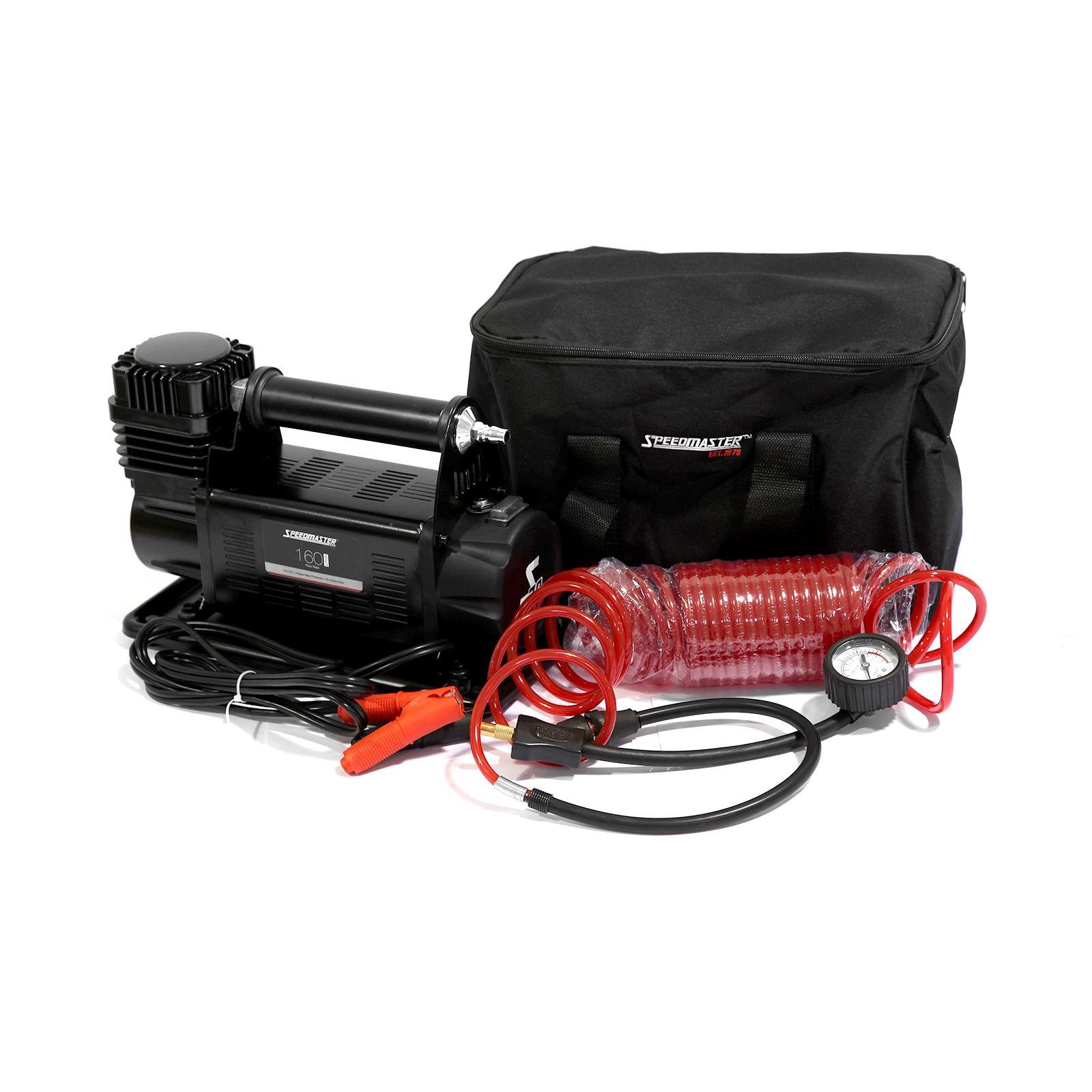 Speedmaster 12v Car Air Compressor 4x4 Tyre Deflator 4wd Portable Inflator 160L