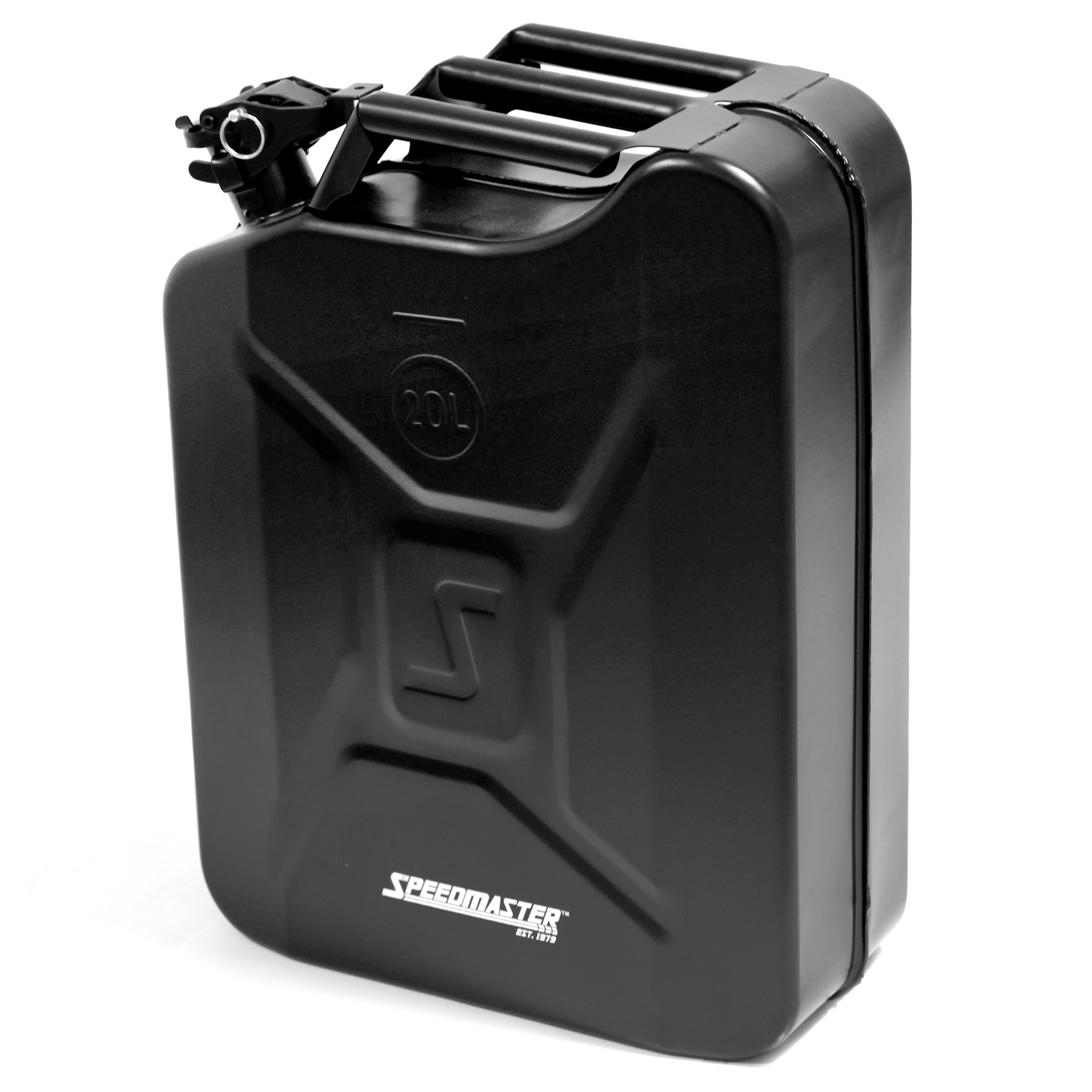 5.2 Gallons / 20 liter Steel Jerry Can Fuel Storage Leak Proof Multiple Locking