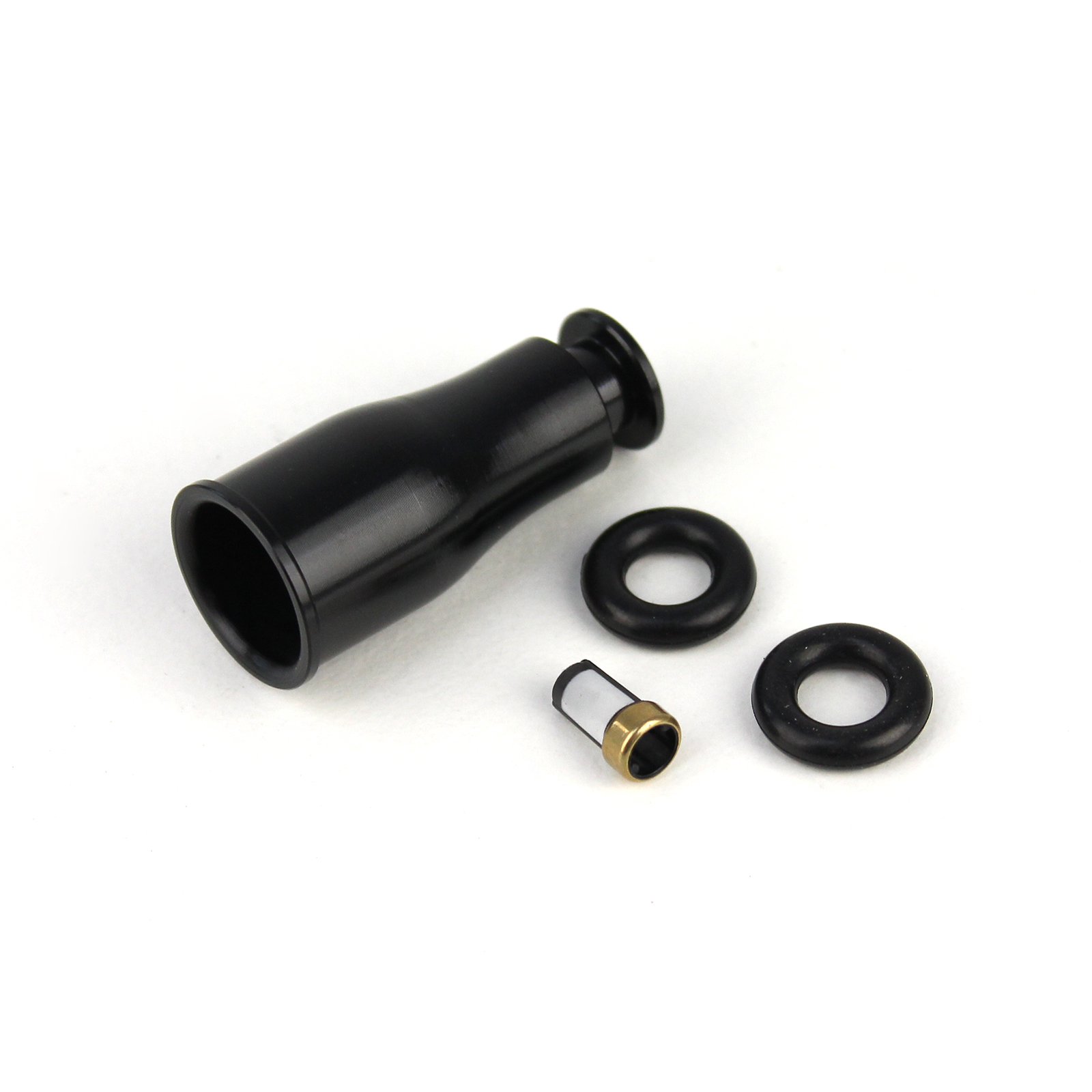 Short To Full Length 14mm Fuel Injector Extension Spacer Black Aluminum