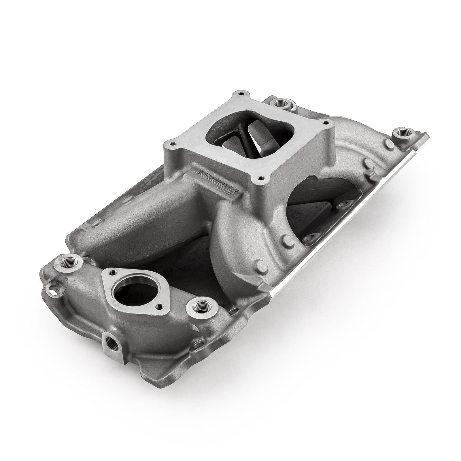 Chevy BBC 454 HiRise Rect Port Intake Manifold Satin