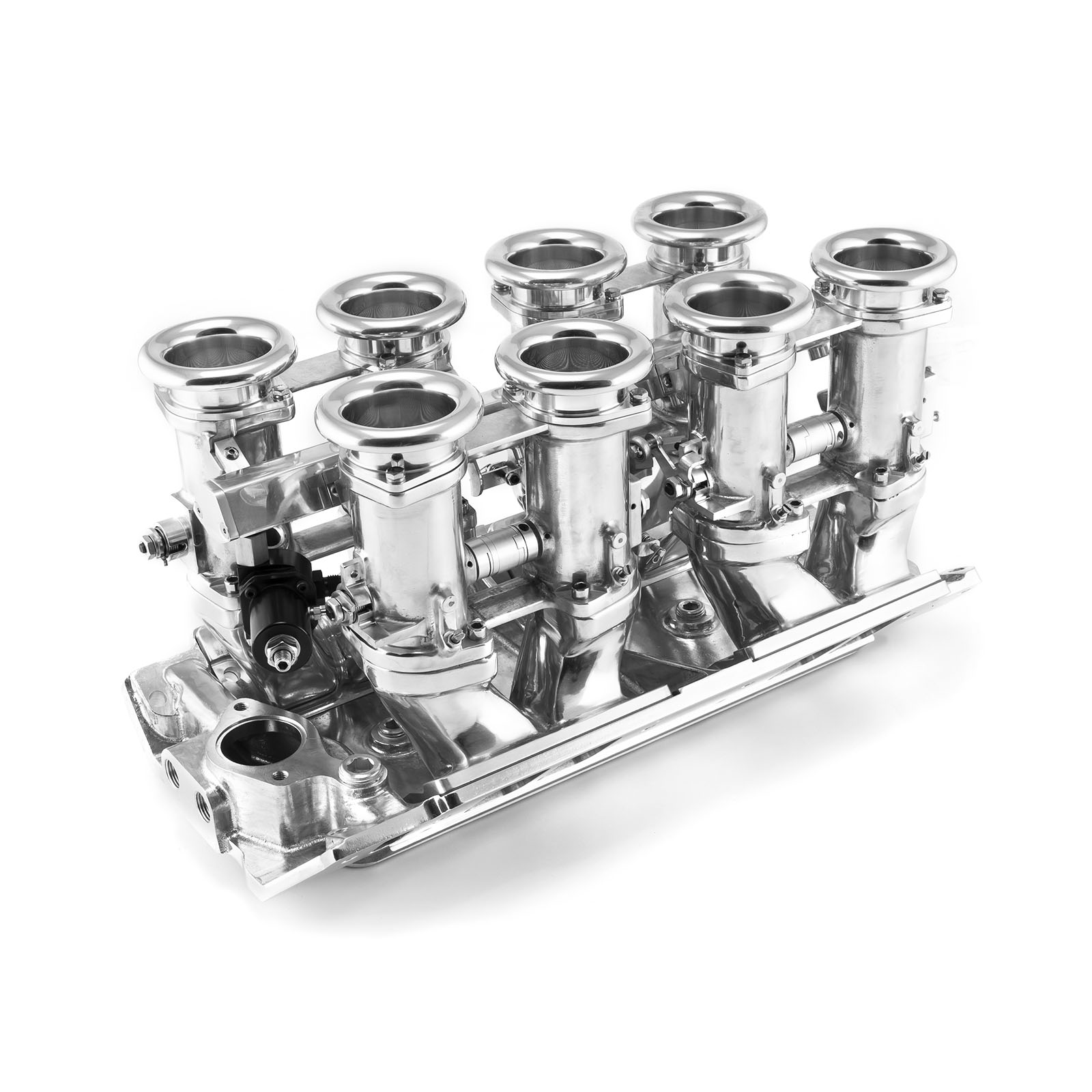 Chevy BBC 454 Downdraft 8 Stack EFI Intake Manifold System Complete Polished