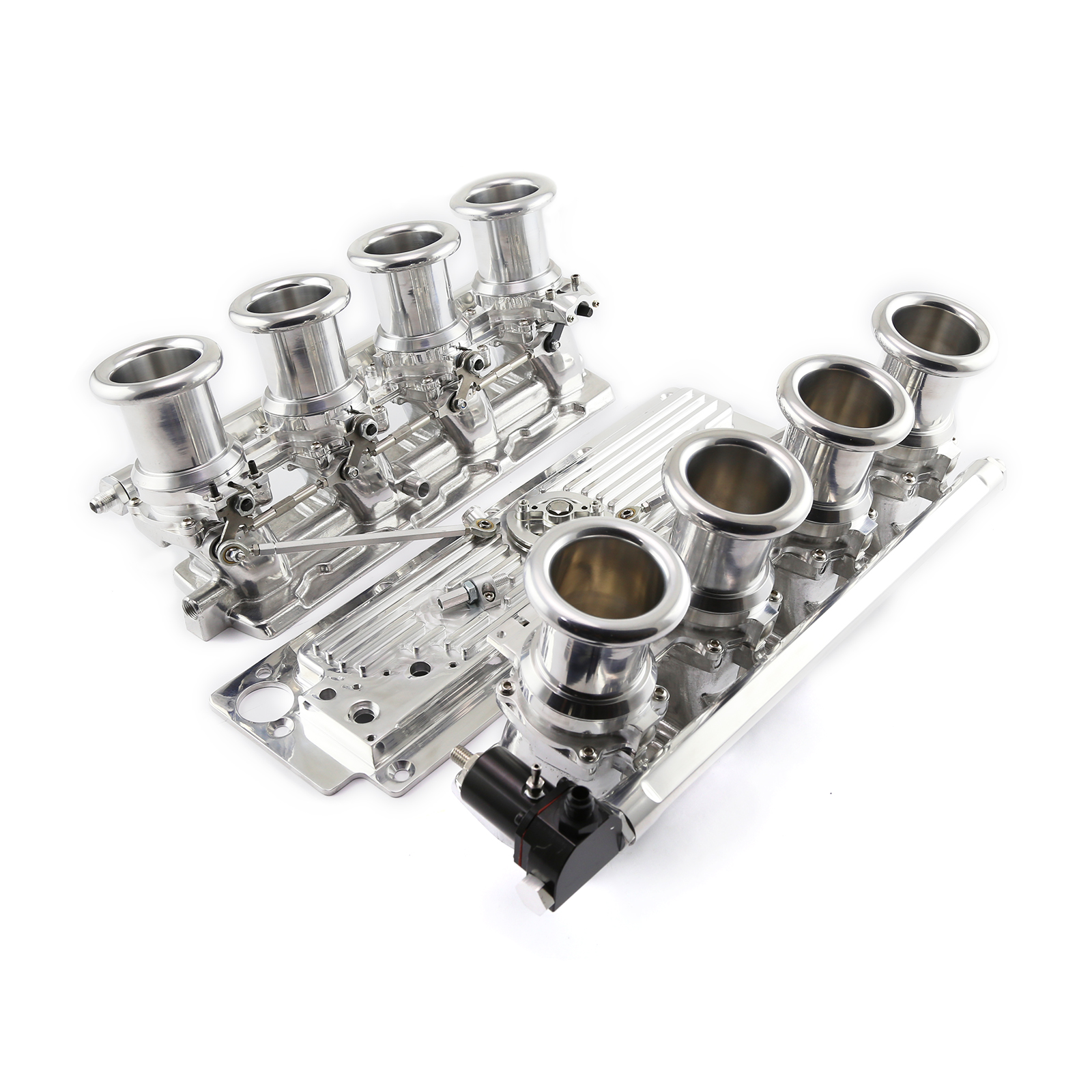 Chevy GM LS3 Downdraft EFI Stack Intake Manifold System Complete Polished