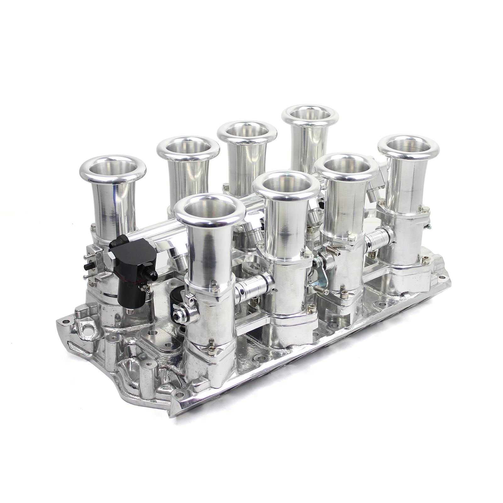 Ford 351W Windsor Downdraft 8 Stack EFI Intake Manifold System Complete Polished