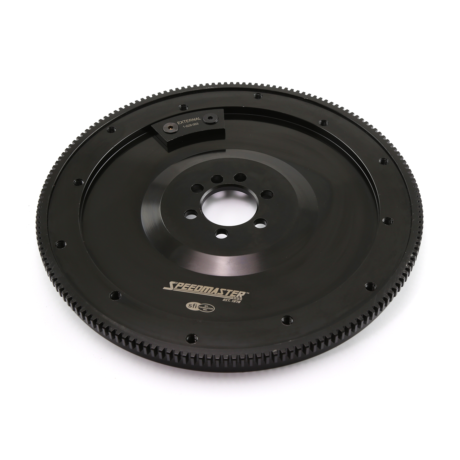 Chevy SBC 350 Late 1PC RMS 168 Tooth DNA® Billet Black Oxide SFI Flywheel